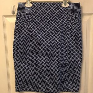 Blue Business Casual Pencil Skirt